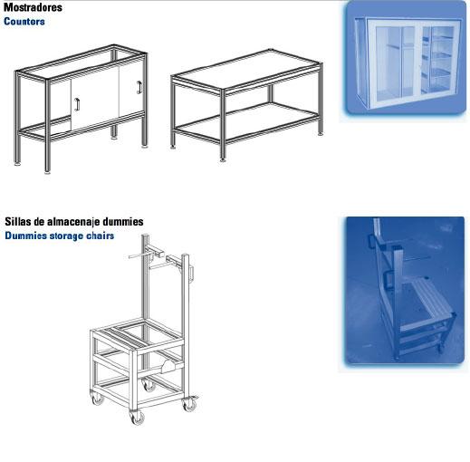 Fasten - Mostradores - Counters y Sillas de almacenaje