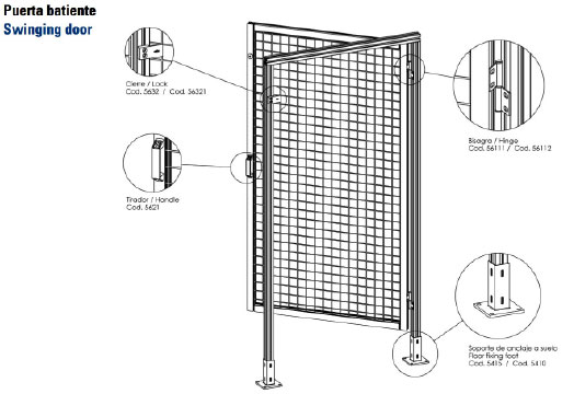 Fasten - Puerta batiente - Swinging door